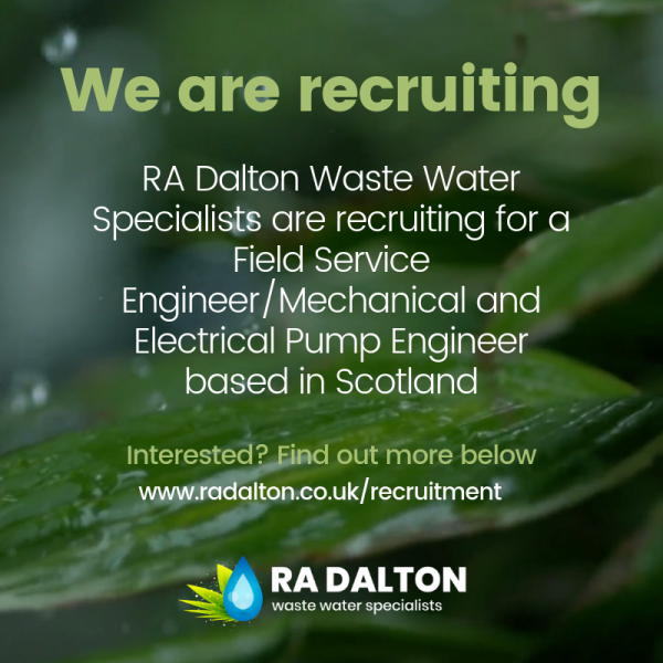 RA Dalton are recruiting for a Field Service Engineer_Mechanical and Electrical Pump Engineer based in Scotland